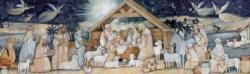 Nativity Set Christmas Panoramic Puzzle
