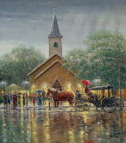 Undampened Spirits Churches Jigsaw Puzzle