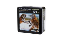 Siberian Tigers Fighting Tigers Lenticular Puzzle