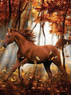 Forest Enchantment (Heavenly Horses) Fall Large Piece