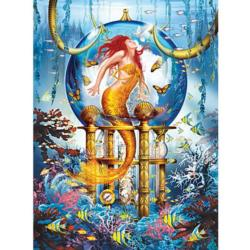 Blue Mermaid Mermaids Jigsaw Puzzle