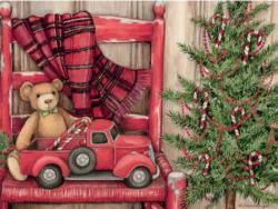 Bear In Chair Christmas Jigsaw Puzzle