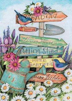 Garden Sign Garden Jigsaw Puzzle
