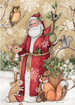 Woodland Santa Christmas Jigsaw Puzzle
