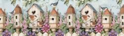 Birdhouse Garden Birds Panoramic Puzzle