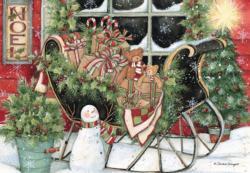 Santa'S Sleigh Christmas Jigsaw Puzzle