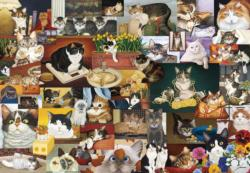 American Cat Collage Jigsaw Puzzle