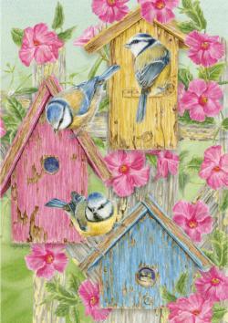 Birdhouse Gate Garden Jigsaw Puzzle