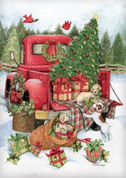 Santa'S Truck Christmas Jigsaw Puzzle
