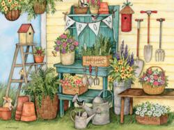 Potters Bench Plants Jigsaw Puzzle