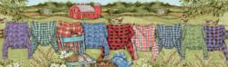 Favorite Flannel Everyday Objects Panoramic Puzzle