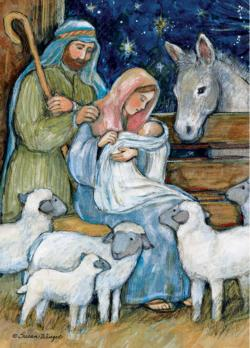 Sheep Nativity Christmas Jigsaw Puzzle