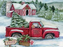 Santas Truck Christmas Jigsaw Puzzle