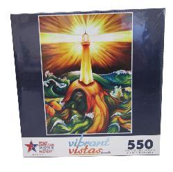 Vibrant Vistas Folk Art Jigsaw Puzzle
