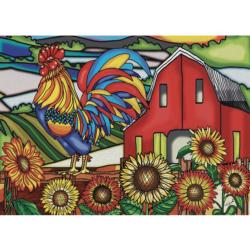 Cock-A-Doodle-Doo Sunflower Jigsaw Puzzle