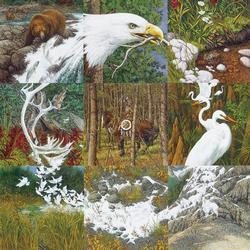 Sacred Circle Wildlife Jigsaw Puzzle