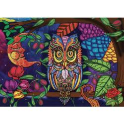 Starry Night Owl Jigsaw Puzzle