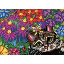 Quiet Summer Morning Flowers Jigsaw Puzzle