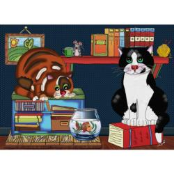 Cat Love Fish Jigsaw Puzzle