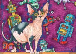 Tinker Catfield Robots Jigsaw Puzzle