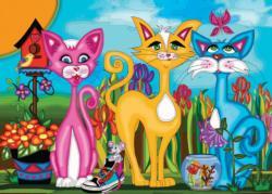 Rosy, Sunny & Sky Cartoon Jigsaw Puzzle