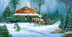 Holiday Tradition General Store Jigsaw Puzzle