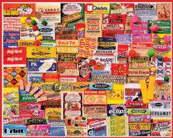 Gum Wrappers Collage Jigsaw Puzzle