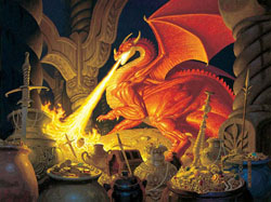 Smaug Dragon Dragons Jigsaw Puzzle