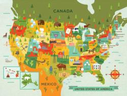 USA Maps / Geography Children's Puzzles