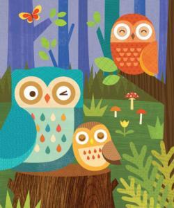 Owl Family Birds Tin Packaging