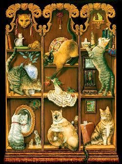 Midnight Mischief Cats Jigsaw Puzzle