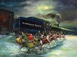 North Pole Express Snow Jigsaw Puzzle