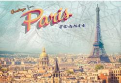 Greetings from Paris Eiffel Tower Jigsaw Puzzle