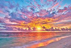 Seaside Sunset Sunrise / Sunset Jigsaw Puzzle