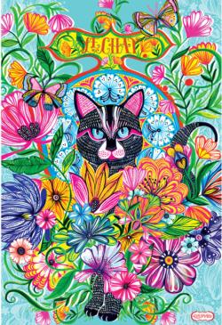 Le Chat Flowers Jigsaw Puzzle