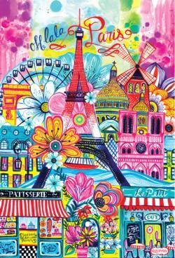 Paris Painting Eiffel Tower Jigsaw Puzzle