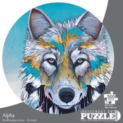 Alpha Native American Round Jigsaw Puzzle