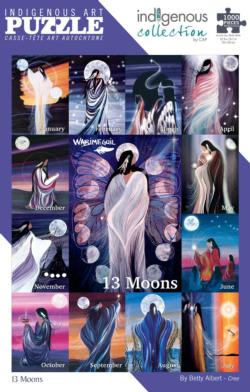 13 Moons Collage Jigsaw Puzzle