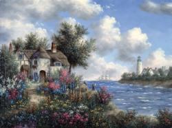 Seacliff Cottage Seascape / Coastal Living Jigsaw Puzzle