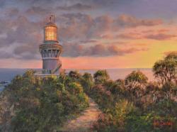 Sea Rocks Sunset Seascape / Coastal Living Jigsaw Puzzle