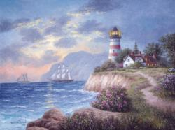 White Cliff Bay Boats Jigsaw Puzzle