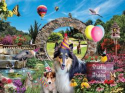 Party Today Dogs Jigsaw Puzzle