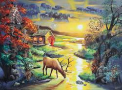 """Dr. Puzzle """"Millusion"""" Lakes / Rivers / Streams Jigsaw Puzzle"""