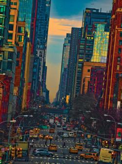 Evening On Tenth Cities Jigsaw Puzzle