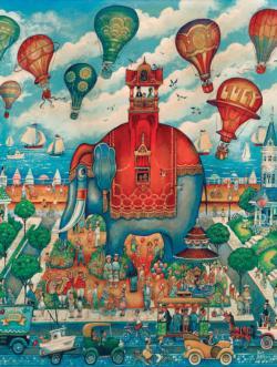 Lucy Elephants Jigsaw Puzzle
