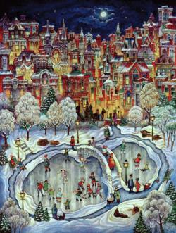 Night Snow Snow Jigsaw Puzzle