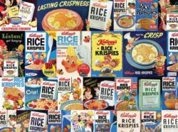 Vintage Snap, Crackle, Pop Collage Jigsaw Puzzle