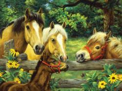 Friendly Neighbors Horses Jigsaw Puzzle