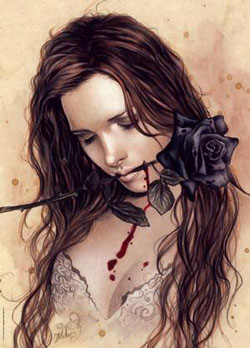 Dark Rose Gothic Jigsaw Puzzle