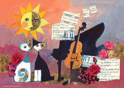 Cello Flowers Jigsaw Puzzle